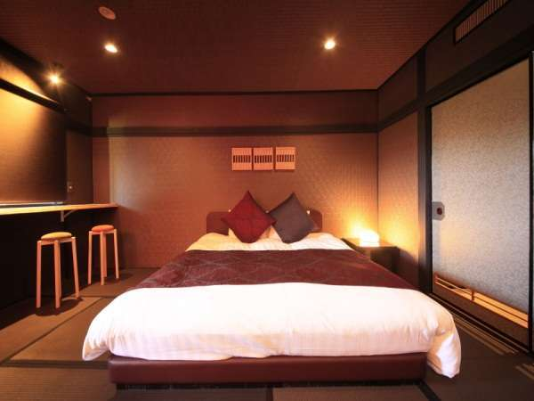 【客室露天風呂付】キングベッド/35平米 ※禁煙